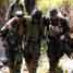 Seorang prajurit Marinir AS (USMC) dievakuasi kerena tidak sanggup melanjutkan latihan perang dan bertahan hidup di dalam hutan yang dikenal dengan istilah Jungle Survival. (Humas Dispen korps Marinir).