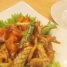 Salah satu hidangan seafood yang tersedia adalah cumi tom yang asam pedas. Daging cumi yang tidak alot membuktikan bahwa rumah makan ini menggunakan seafood segar!