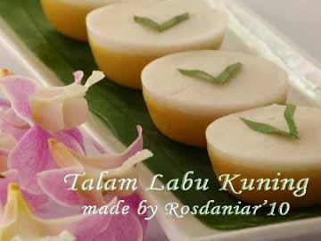 Resep Kue: Talam Labu Kuning