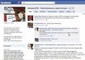 Ajak Demo, Facebook Sahabat ICW Diblokir