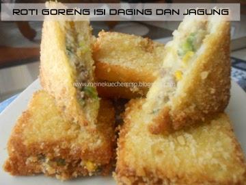 Resep Kue: Roti Goreng Isi Daging dan Jagung