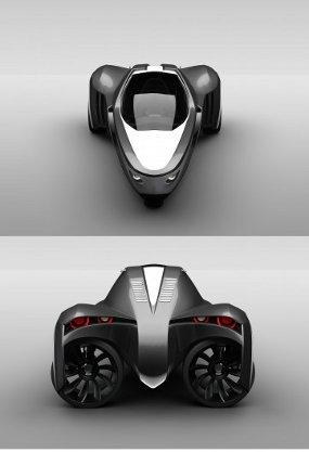 Kendaraan Amfibi Tiga Roda Bermesin Listrik