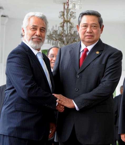 SBY Menerima Xanana Gusmao