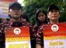 Massa juga menggelar orasi yang menuntut agar menteri tenaga kerja lebih proaktif dalam perlindungan tenaga kerja Indonesia, dan memboikot produk Saudi Arabia. Massa meminta agar bertemu dengan Dubes Saudi Arabia.