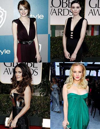 10 Aktris Berbusana Terbuka di Golden Globe 2012 1