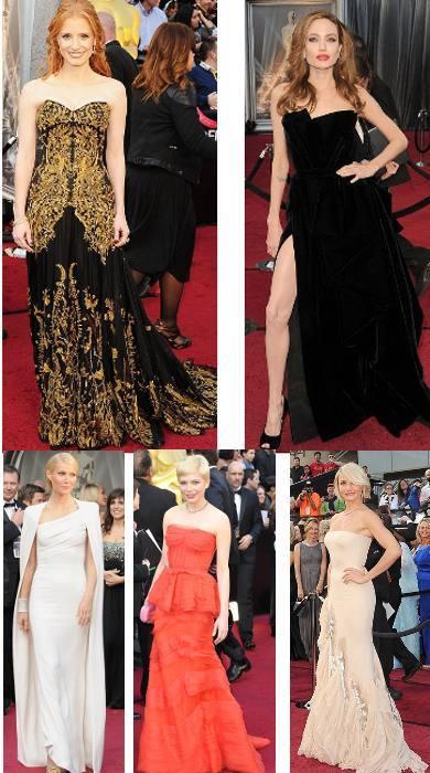 5 Selebriti yang Mencuri Perhatian di Red Carpet Oscar 2012