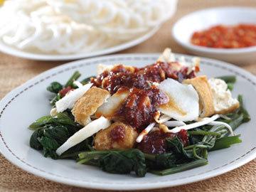 Resep Sayur : Rujak Kangkung