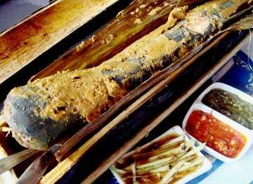 Ikan Patin Bakar Bambu Karimata