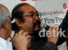 Sigit Purnomo selaku penggagas acara Jazz Gunung juga tampak hadir dalam acara konferensi pers tersebut.