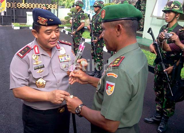 Sinergitas Anggota TNI-Polri di Sulsel