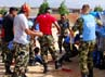 Dengan kemampuan dan ketrampilan Prajurit POM TNI yang telah terlatih akhirnya pengunjuk rasa dapat dicegah masuk ke dalam Markas SEMPU. (Konga)