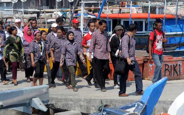 Jokowi Kampanye di Kepulauan Seribu