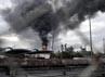 Ledakan ini terjadi pada salah satu kilang minyak milik perusahaan Bangchak Petroleum. Reuters/Stringer.