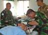 Operasi luka sepanjang 5 cm ini dilaksanakan selama 15 menit dan  berjalan dengan lancar. (Lettu Inf Suwandi)