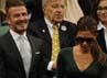 Pasangan tersebut terlihat duduk di tengah-tengah Royal Box. AFP PHOTO/Leon Neal.