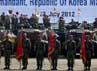 Kedatangan Letnan Jenderal Lee Ho Yeon disambut dengan upacara militer.