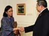 SBY menerima mantan anak buahnya Sri Mulyani yang datang bersama delegasi Bank Dunia. Rusman/Setpres.