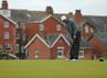 Latar belakang bangunan abad ke-19 menjadi pemandangan menarik dalam kejuaraan tahunan ini. Reuters/Brian Snyder.