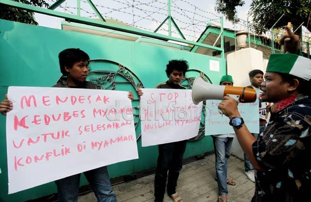 Mahasiswa Muslim Kecam Pembantaian di Myanmar