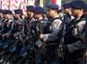 Apel yang dilaksanakan sejak pukul 08.00 WIB di Lapangan Monas ini diikuti 2.500 polisi.