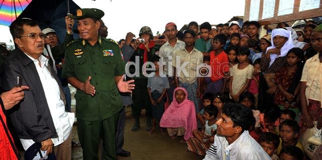 JK Tinjau Pengungsi Rohingya