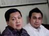 Anggota Komisi III DPR Ahmad Yani dan Badan Advokasi Hukum Partai Nasdem Effendi Syahputra (kanan) memaparkan pemikirannya soal proses verifikasi parpol.