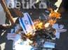 Selain itu, massa FPI Sulsel juga membakar gambar bendera Israel yang dianggap sekutu abadi Amerika dalam memerangi umat Islam.