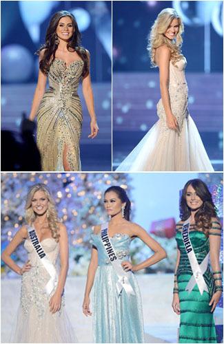 Pesona 5 Besar Miss Universe 2012 dalam Balutan Gaun Malam 1