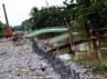 Selama pembangunan turap tersebut, jalan baru Kampung Cerewet, Kelurahan Duren Jaya, ditutup.