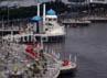 Dermaga Pantai Losari, Makassar, Rabu (02/13), terlihat sepi oleh para pengunjung yang biasanya ramai.
