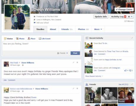Facebook Uji Coba Desain Profile Baru