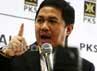 Anis Matta menyampaikan pidato politiknya di kantor DPP PKS Jl. TB Simatupang, Jaksel.