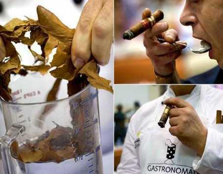 Para Chef Memasak dengan Tembakau di Cuba Cigar Festival