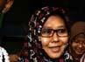 Sutiana diperiksa sebagai saksi terkait kasus tindak pidana pencucian uang dengahn tersangka Lutfi Hasan Ishaq. Ramses/detikFoto.