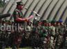Dalam sambutannya, Penglima TNI memerintahkan para prajurit TNI mengeluarkan kemampuan terhebatnya dalam latihan gabungan (Latgab) TNI 2013.