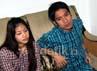 Natasha dan Desta saat ditemui di kawasan Tebet, Jakarta Selatan, Senin (15/4/2013).