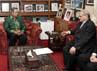 Presiden SBY menerima kedatangan Abdul Salam Al-Abbadi dengan didampingi Mensesneg Sudi Silalahi dan Dubes Indonesia untuk Yordania merangkap Palestina Teguh Wardoyo. (Setpres).