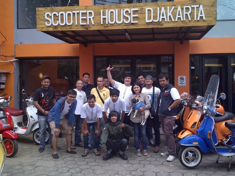 Ini Bengkel Vespa Terbesar di Jakarta