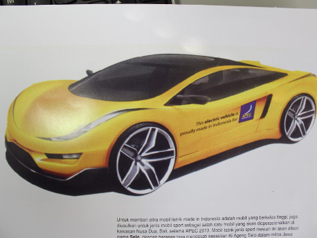 Ini Dia Tampang Selo, Mobil Listrik Sport Anyar Dahlan Iskan