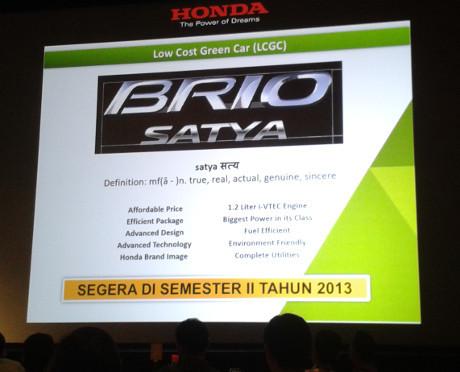 Honda Brio Satya Meluncur Bulan September