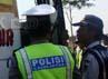 Puluhan bus diberhentikan oleh petugas kepolisian dari Satlantas Polres Banyumas dan Dinhubkominfo.