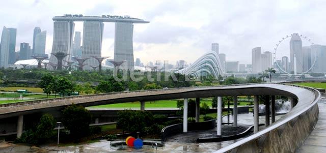 Waduk Keren Marina Barrage Di Singapura