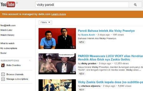 Parodi Gaya Bicara Vicky Bikin Heboh YouTube