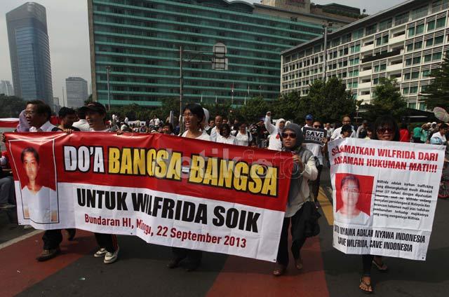 Aksi Solidaritas Jelang Vonis TKI Wilfrida Soik