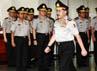 Upacara kenaikan pangkat berlangsung di Rupatama Mabes Polri.