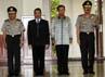 (Kiri ke kanan) Komjen Imam Sudjarwo, Komjen Suparni Parto, Komjen Sutarman, dan Komjen Budi Gunawan hadir dalam acara tersebut.