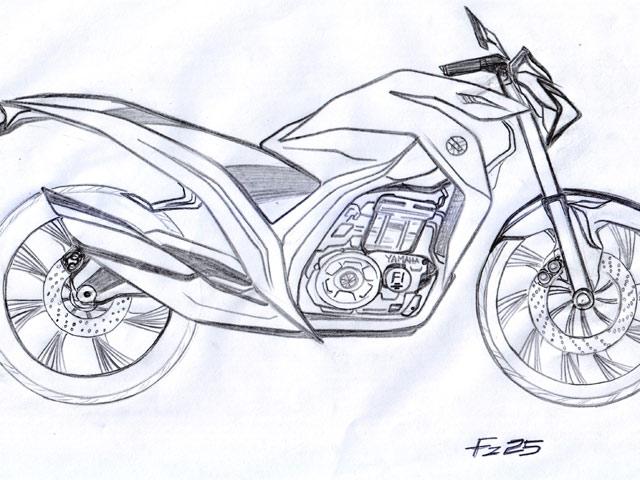 Sketsa Penerus Yamaha Scorpio Z