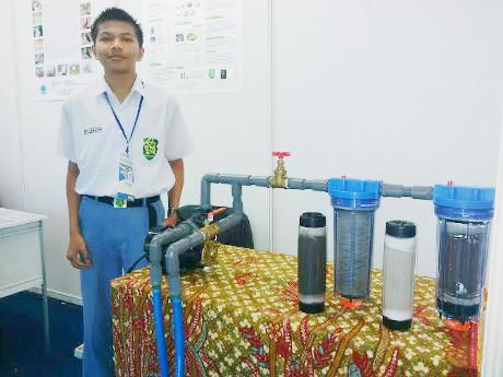 Dengan Abu Vulkanik, Remaja Asal Solo Bikin Penyaring Limbah Logam Berat