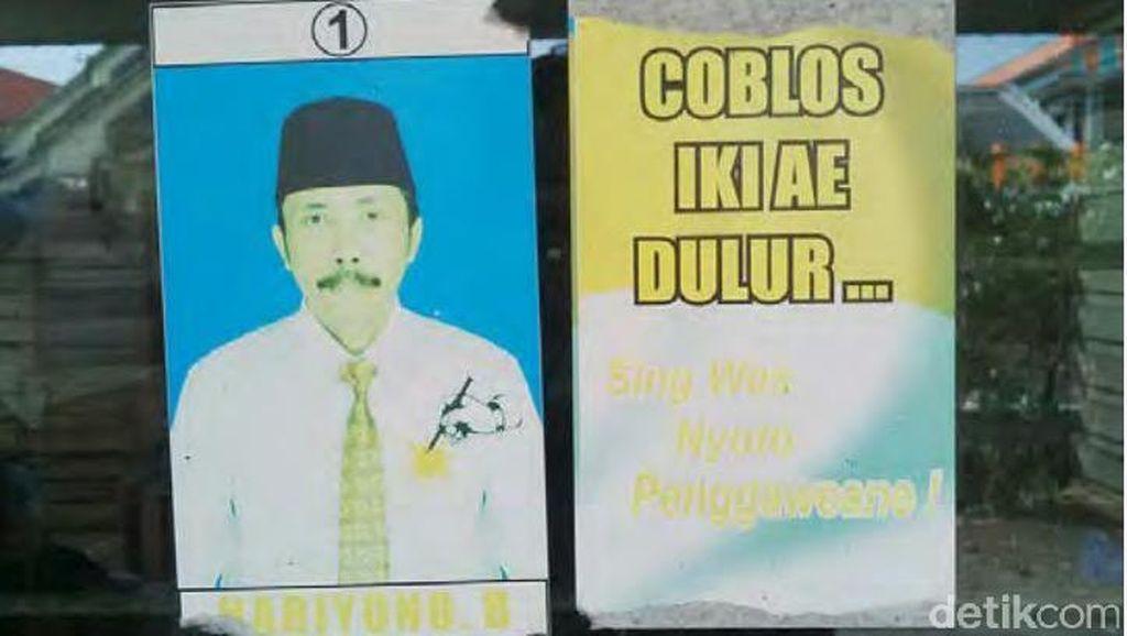 Ini Foto Hariyono, Kades Dalang Pembunuh Salim Kancil Saat Kampanye