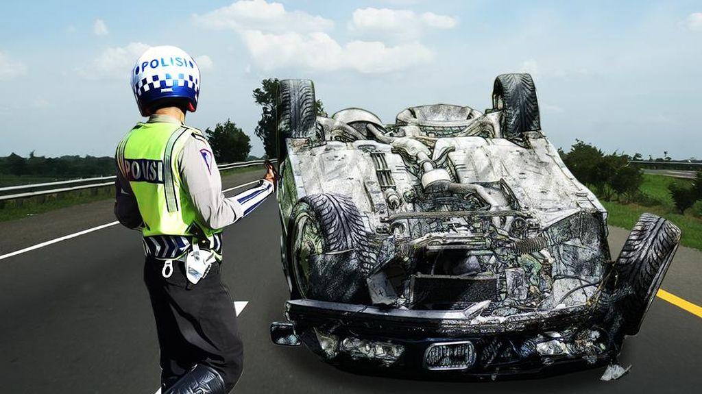 Kecelakaan di Tol Gedong Panjang Arah ke Tj Priok, 1 Orang Tewas